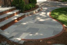 Front Walkway Ideas thermal bluestone pavers   Bluestone, Clay, Pavers, Sidwalk, Front, Yard, Landscape, Design ...