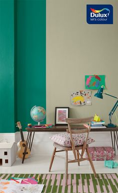 A green living room is playful yet also stylish. If you have an adult living space that doubles up as a kids playroom, then this green combination will ensure you have the best of both worlds. Click to find out how to create the look.