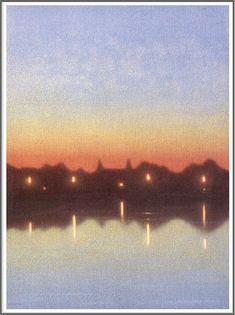Stefan Johansson (1876-1955), Nuit de Mai au Clair de Lune - 1942