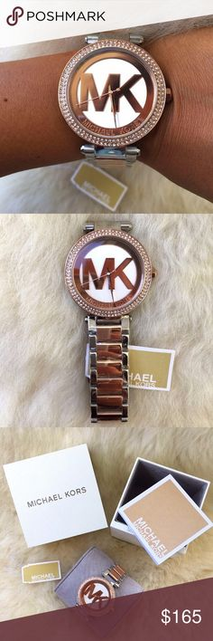 Brand New Michael Kors Women's Watch MK6314 100% Authentic and Brand New in the original Michael Kors Box. Fast Shipping, shipped same business day.  Brand Name: Michael Kors Model number: MK6314 Item Shape: Round Gender: Women's Case material: Stainless Steel Case color: Rose Gold Case diameter: 39 millimeters Case Thickness: 12 millimeters Band width: 12 millimeters Band material: Stainless Steel Band color: Rose Gold and Silver Dial color: Rose Gold and Silver Movement: Quartz Water…