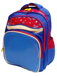 Kids School Bag Backpack Rucksack Fun Pixel Puzzle Make Your Own Pattern Gift