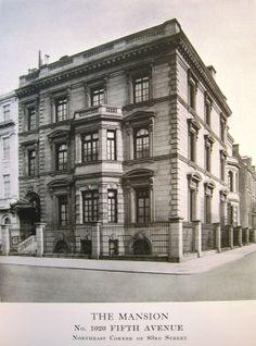 The W. A. Salomon Town House 1020 Fifth Avenue & 83rd St.