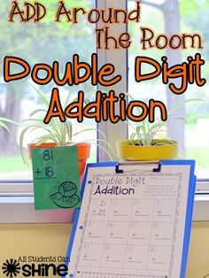 Are your students working on double digit addition? Here is a fun way to get them out of their seats and practicing their new skills! I included cards for both addition WITH regrouping and WITHOUT regrouping. This activity can easily be differentiated with the 2 sets of cards.