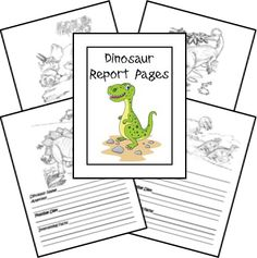 Free Creation Based Dinosaur Unit Study...dinosaur report pages and coloring pages