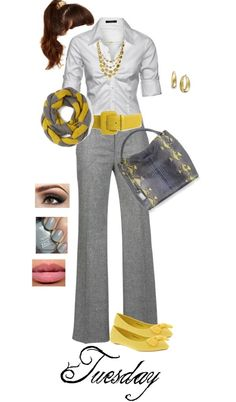 What a cute way to incorporate a pop of color into an outfit! I would feel SUPER confident and sassy with this outfit (although I may change the color to a bright pink or blue? Business Mode, Business Outfits, Business Attire, Office Outfits, Fall Outfits, Casual Outfits, Cute Outfits, Business Formal, Casual Attire