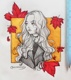 Fall vibes 🍁 Can you believe I posted another traditional sketch, who am I? … Fall vibes 🍁 Can you believe I posted another traditional sketch, who am I? But seriously, I forgot how nice it was to sketch on paper …… Fall Drawings, Art Drawings Sketches, Cute Drawings, Sketch Drawing, Drawing Ideas, Sketching, Arte Sketchbook, Sketchbook Inspiration, Marker Art