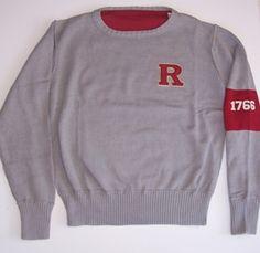 quality design 7b1f3 d5659 Vintage Rutgers Block R Crewneck Sweater