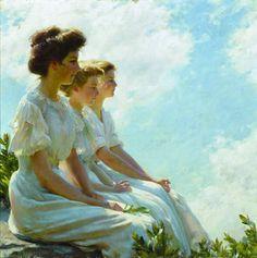 En los altos. Charles Courtney Curran. Akron Art Museum OHIO, USA.