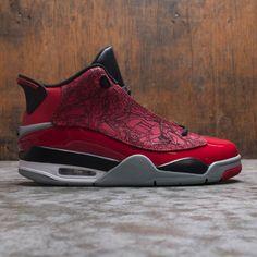 AIR JORDAN DUB ZERO MEN (GYM RED / GYM RED-BLACK-PARTICLE GREY) Jordan Shoes For Men, Air Jordan Shoes, Jordan Dub Zero, Air Max Sneakers, Sneakers Nike, Kicks Shoes, Jordan Retro, Gym Men, Red Black