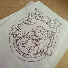Doing some more of the frame idea tattooa this in full colour is on offer if done in a single sitting for £200 #ariel #arieltattoo #arieltattoos #tattoo #tattoos #disney #disneytattoo #disneytattoos #disneyariel #mermaid #mermaidtattoo #mermaidtattoos