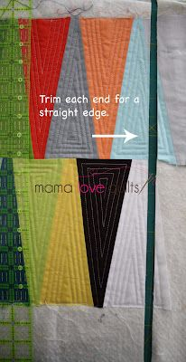 Mama Love Quilts: EZ Dresden Table Runner tutorial