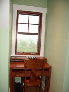 Stained Doors And Windows With White Baseboard Mix Of Wood Trim