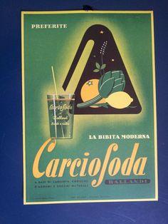 Pubblicità Ballandi Carciosoda | eBay