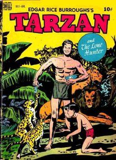 A cover gallery for the comic book Tarzan Tarzan, Children's Comics, Conditioner, Nostalgia, Vintage Magazines, Golden Age, Cover, Cinema, Comic Books