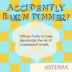 Purify EO gets rid of burn smell!