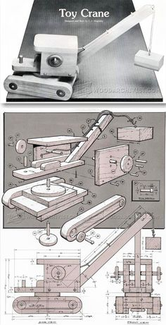 Wooden Toy Crane Plans - Wooden Toy Plans and Projects   WoodArchivist.com
