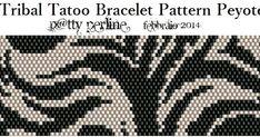 P @ tty Beads: Tribal Tattoo Bracelet - Pattern Peyote