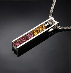 garnet and citrine necklace November by VerbenaPlaceJewelry
