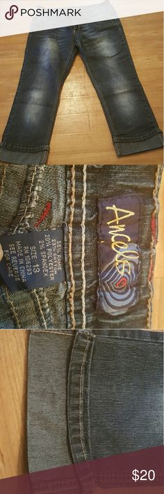 Angels womens jeans Size 13 Angels womens jeans with 2% spandex for a little extra give Angels Jeans Straight Leg