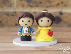 Gorgeous Geeky Cake Toppers - Belle and Price Beauty and the Beast Wedding Cake Topper - Genefy Playground