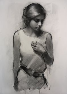 Hannah - charcoal on paper - Neil Nelson