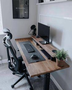 Home Studio Setup, Home Office Setup, Home Office Space, Desk Space, Music Studio Decor, Small Workspace, Studio Desk, Office Desk, Computer Desk Setup