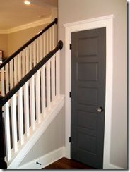 Painted door with white trim