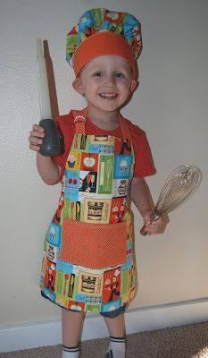 Nap Time Crafts: Toddler Apron and Chef Hat