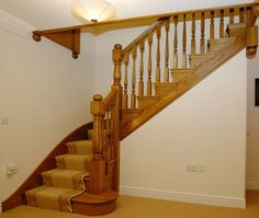 Traditional Wooden Staircase Visit deck railing at http://awoodrailing.com