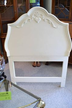 Beautiful High End French White Princess Solid Wood