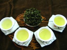 green tea with friend after tasting, we agreed that delicious