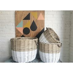 Gorgeous dipped baskets from Knack  by knackstudio