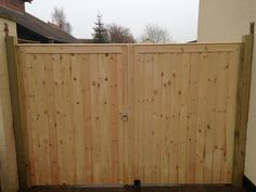 Driveway gates installed by Atkinsons fencing Drive Gates, Wood Gates, Driveway Gate, Garden Gates, Fencing, Garage Doors, Outdoor Decor, Home Decor, Home