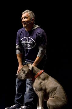 Cesar Millan and Junior! What he did with Daddy Junior is true evidence that dogs are what they are raised to be. Cesar Millan, I Love Dogs, Puppy Love, Dog Whisperer, Pitt Bulls, Daddy, Pit Bull Love, Junior, Beautiful Dogs