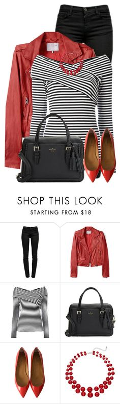 """""""Red Jacket"""" by daiscat ❤ liked on Polyvore featuring J Brand, IRO, Theory and Kate Spade"""
