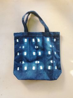City Windows Indigo Shibori Canvas Tote Bag  by EarnestDryGoods