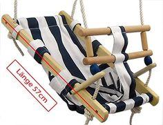 Babyschaukel aus Holz mit gestreiftem Stoff Seile zum Aufhängen aus Baumwolle Schaukeln schon für die Allerkleinsten dank komfortabler Halbliegeposition Diese Baby- & Kleinkindschaukel wurde speziell für die Anforderungen und Gegebenheiten der kleinen Minischaukler hergestellt! Ihr Kind schaukelt in leichter Liegeposition, dadurch wird der instabile Rücken entlastet und die Wirbelsäule nicht gestaucht. Dieser Baby-Schaukelsitz ist ab einem Alter von 6 Monaten geeignet und bis zu einem…