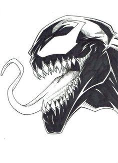 "Venom – More from my site Klicke um das Bild zu sehen. Fish tattoo – Das ist meine Zeichnung, eh Neue Schule Just another character… A rasta character « ""Z"" letter Creepy Drawings, Marvel Drawings, Pencil Art Drawings, Cartoon Drawings, Cartoon Art, Drawing Sketches, Cool Drawings, Drawing Cartoon Characters, Spiderman Kunst"