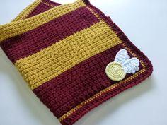 Crochet Harry Potter baby blanket Gryffindor by KitschyHoneybees
