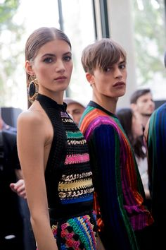 All the backstage action at Balmain's Spring 2017 men's show.