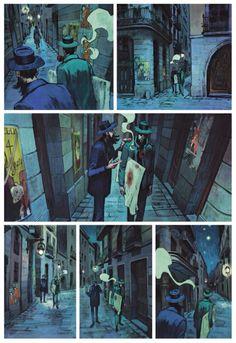 Ryun Reuchamps on Comic Book Layout, Comic Book Style, Comic Book Pages, Comic Books Art, Bd Comics, Manga Comics, Storyboard, Grafic Novel, Graphic Novel Art