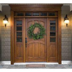 Best Front Doors, Beautiful Front Doors, Double Front Doors, Wood Front Doors, Front Door Entrance, Door Entryway, House Entrance, Farmhouse Front Doors, Unique Front Doors