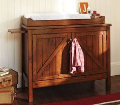 Baby boy old rustic country changing table. gosh wish had something like this for my son, if we ever have baby again. want this..♥