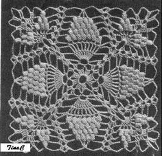 Totally Free Crochet Pattern Blog - Patterns: Pineapple Square 740 Free Crochet Pattern