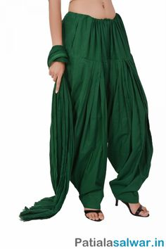 in offers wide colors variation of Cotton Green Patiala Salwar include Mahendi Green, Pakistani Green, Parrot Green for women and girls at cheap prices from india. Patiala Pants, Patiala Salwar, Patiala Suit Designs, Kurta Designs Women, Punjabi Suits, Salwar Suits, Fashion Pants, Fashion Dresses, Indian Wear