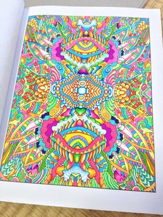 """From """"High Visions - Psychedelic Coloring Book"""". Available on Amazon.com Psychedelic, Locks, Coloring Books, Beach Mat, Outdoor Blanket, Doodles, Amazon, Rugs, Lady"""