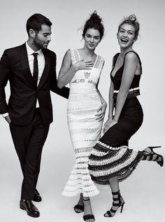 Kendall Jenner and Gigi Hadid wears Jonathan Simkhai dresses in Vogue Magazine | @andwhatelse