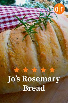 Jo's Rosemary Bread Recipe Jo's Rosemary Bread Rosemary Bread Machine Recipe, Recipe Using Rosemary, Best Bread Machine, Rosemary Recipes, Bread Maker Recipes, Yeast Bread Recipes, Herb Bread, Bread Bun, Cinnamon Bread