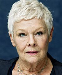 Judi Dench Hairstyle - Casual Short Straight
