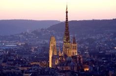 Cathedral in Rouen, France - best known for the city where Joan of Arc was executed in 1431. Fabulous Gothic and Renaissance style architecture.